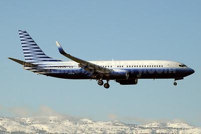 EIE Eagle Boeing 737-8EQ WL (BBJ2) N737M (msn 33361) GVA (Paul Denton). Image: 910990.