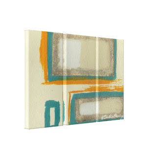 Soft And Bold Rothko Inspired Abstract Stretched Canvas Print
