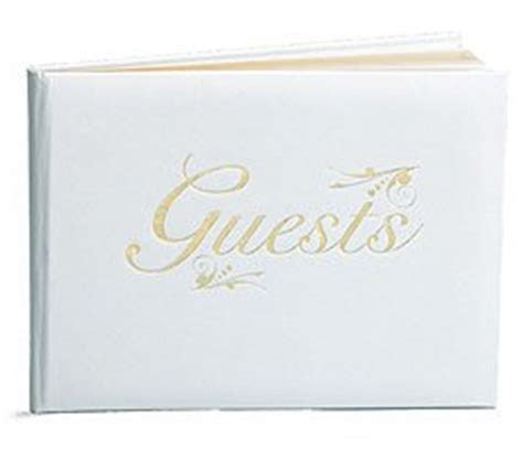 Amazon.com : Elegant White Wedding Gold Trim Guest Book