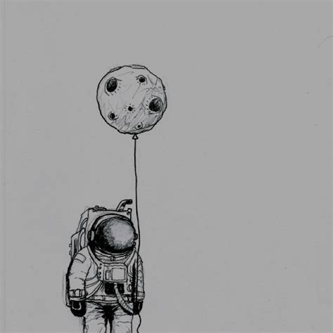 drawn wallpaper astronaut moon pencil   color drawn
