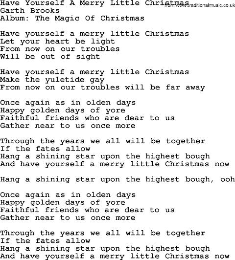 Have A Yourself A Merry Little Christmas Lyrics