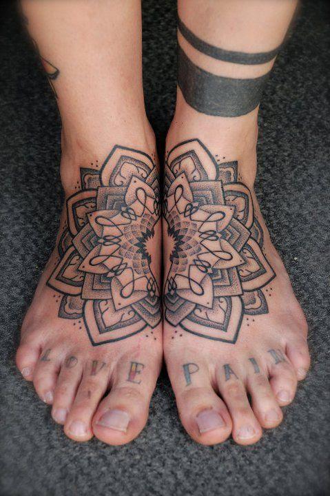 Leg And Foot Tattoo