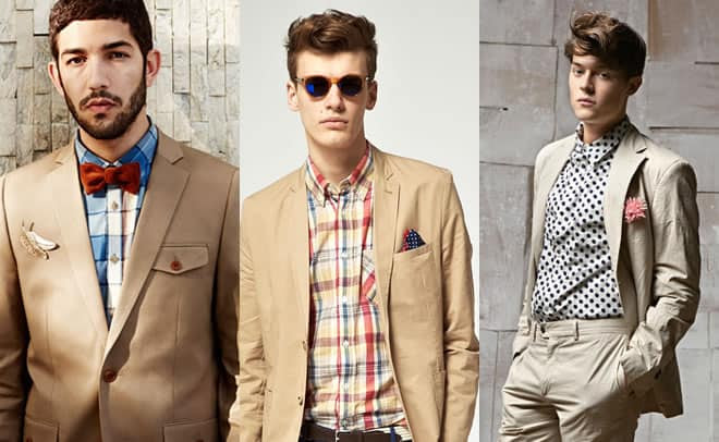 Khaki Suits With Brights Colours or Prints/Patterns Lookbook