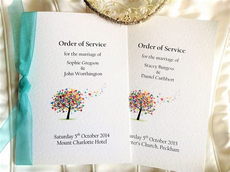Love Tree Wedding Order of Service Books   Wedding