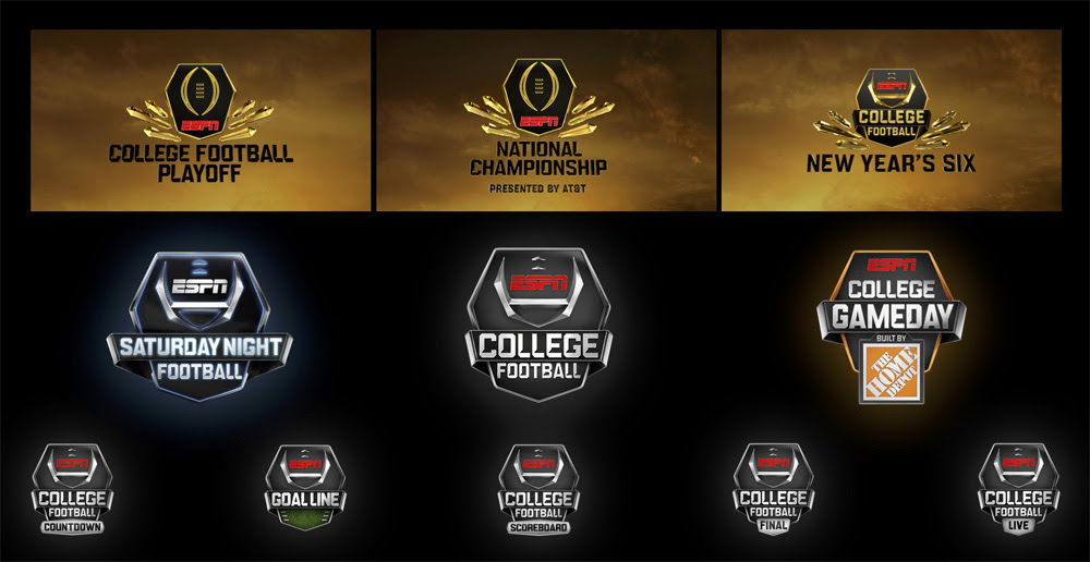 New Logo On Air Package For Espn College Football Sports Logo News Chris Creamer S Sports Logos Community Ccslc Sportslogos Net Forums