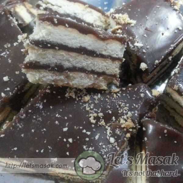 resepi kek batik milo mudah  sedap surat rasmi Resepi Kek Lapis Biskut Jejari Enak dan Mudah