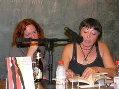Safrika y Lola Andrés en Mujeres en su tinta - Ubik café - Ruzafa - Valencia