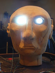 Automata head with LEDs on