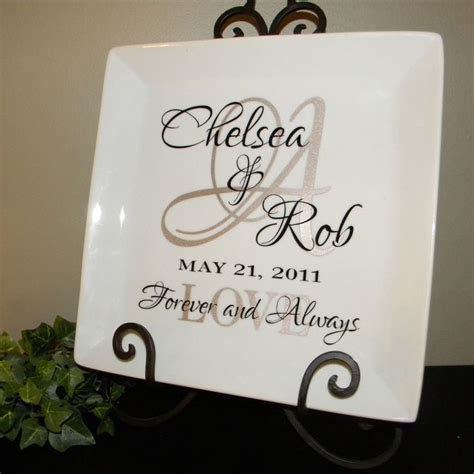 personalized wedding gift couples names  initial