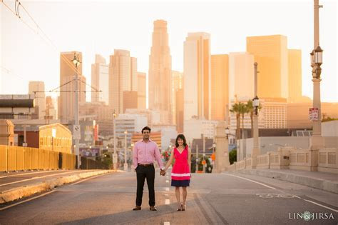 Downtown Los Angeles Engagement   Tammy & Deepak