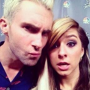 Adam Levine e a cantora Christina Grimmie (Foto: Instagram/ Reprodução)