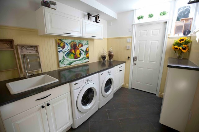 Colourful Family Laundry Room - traditional - laundry room ...