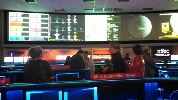Inside the Space Flight Operations Facility (SFOF) at the Jet Propulsion Laboratory near Pasadena, California...on December 3, 2014.