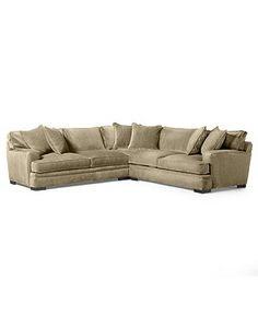 "Kenton Fabric Sectional Sofa, 2 Piece 107""W x 94""D x 33""H: Custom Col…"