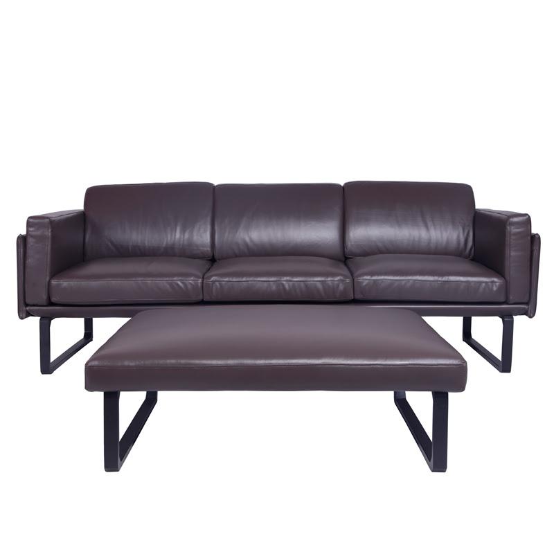 Cassina Sofa | 202 OTTO Dark Brown Leather Sofa | Yadea ...