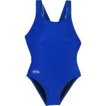 Solid Royal Junior Women's Bladeback Swimsuit (Size 22)