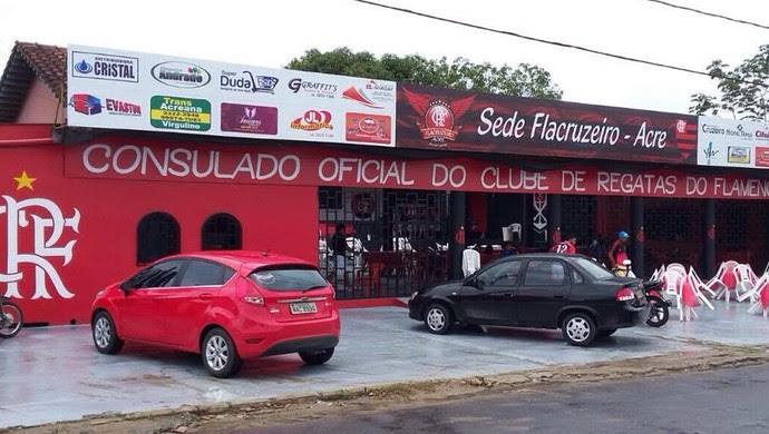 Torcida oficial do Flamengo inaugura sede recreativa, em Cruzeiro do Sul (Foto: Adelcimar Carvalho)