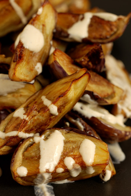 eggplant with tahini-yoghurt dressing© by haalo
