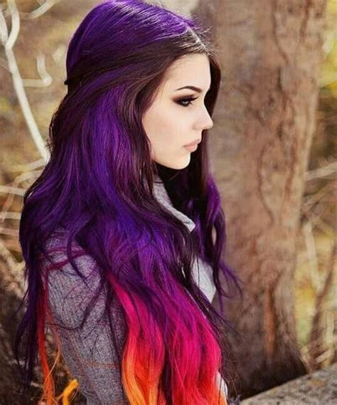 17 Best ideas about Multicolored Hair on Pinterest   Rainbow hair, Crazy color hair dye and