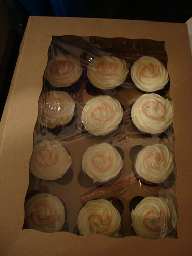 Austin:  PR anniversary cupcakes for those who don't like carrot cake