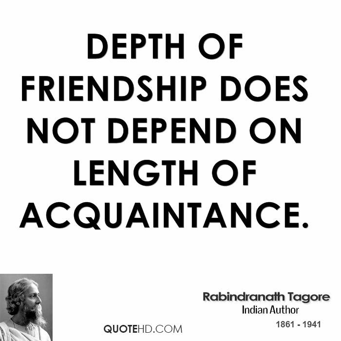 Rabindranath Tagore Friendship Quotes Quotehd