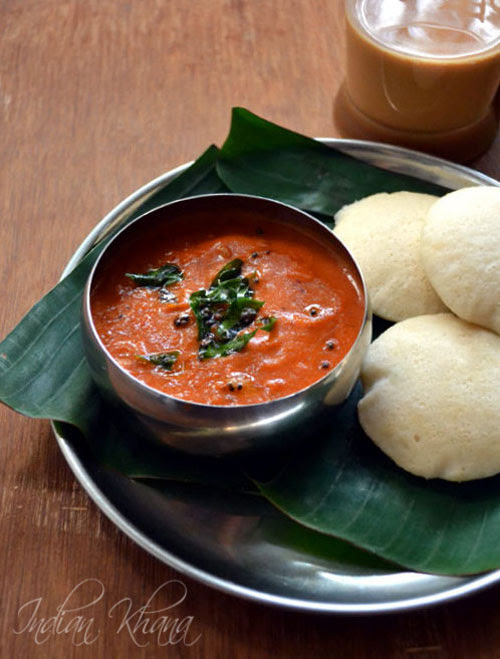 Onion Tomato Chutney Recipe (for Idli, Dosa)