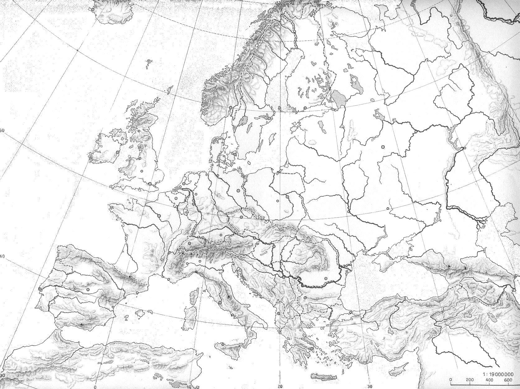 Mapa Fisico Europa Mudo.Mapa Fisico Mudo De Europa Mapa