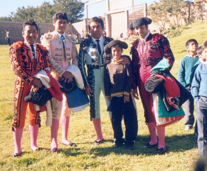 Cuadrilla de toreros en Huambos, Chota
