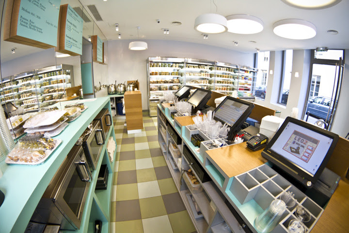 Noon fast food restaurant by Maam, Paris » Retail Design Blog
