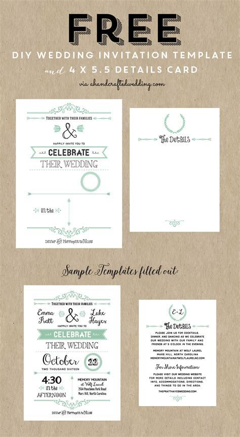 Best 25  Free wedding invitation templates ideas on