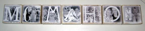 Photo Letter Blocks- LAST NAME WEDDING / ENGAGEMENT GIFT- per block price