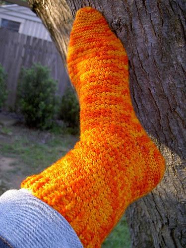 Wollmeise crocheted socks