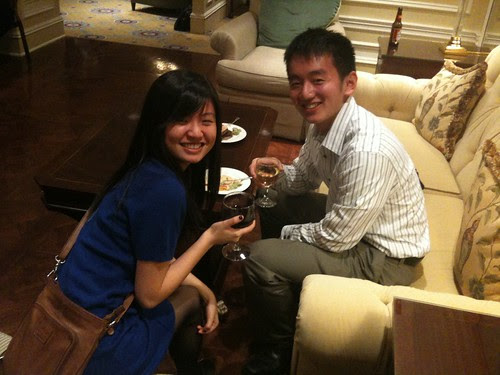 At the Union League award ceremony, my award-winning student, Simon Han (at right)