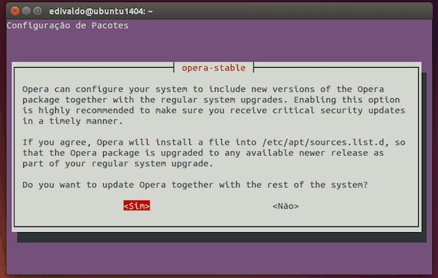 Opera no Linux