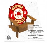 Volunteer Fire and Rescue Chair Number 3 Woodworking Pattern - fee plans from WoodworkersWorkshop® Online Store - firefighters,volunteers,fire and rescue,firefighting,adirondack chairs,yard art,painting wood crafts,scrollsawing patterns,drawings,plywood,plywoodworking plans,woodworkers projects,workshop blueprint