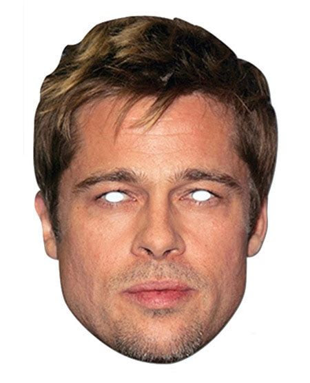 Brad Pitt Celebrity Card Party Face Mask. In Stock Now