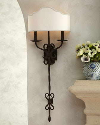 Old World Iron Sconce - traditional - wall sconces - by Horchow
