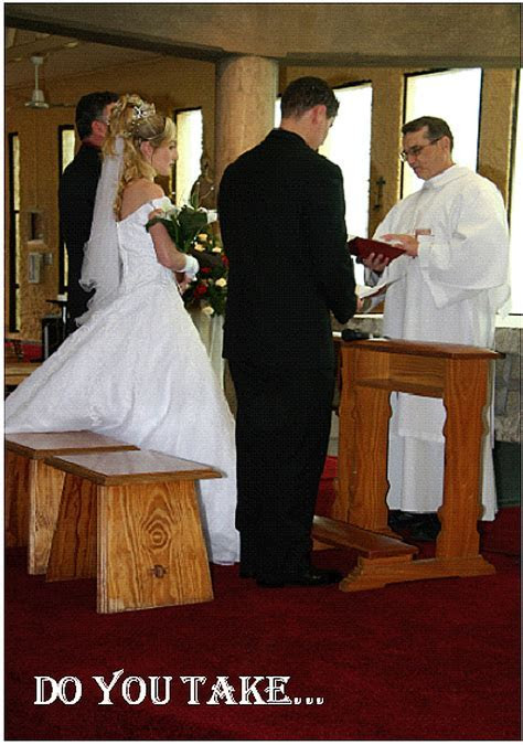 Wedding Mass Card: Wed 1 Priest leading the marriage