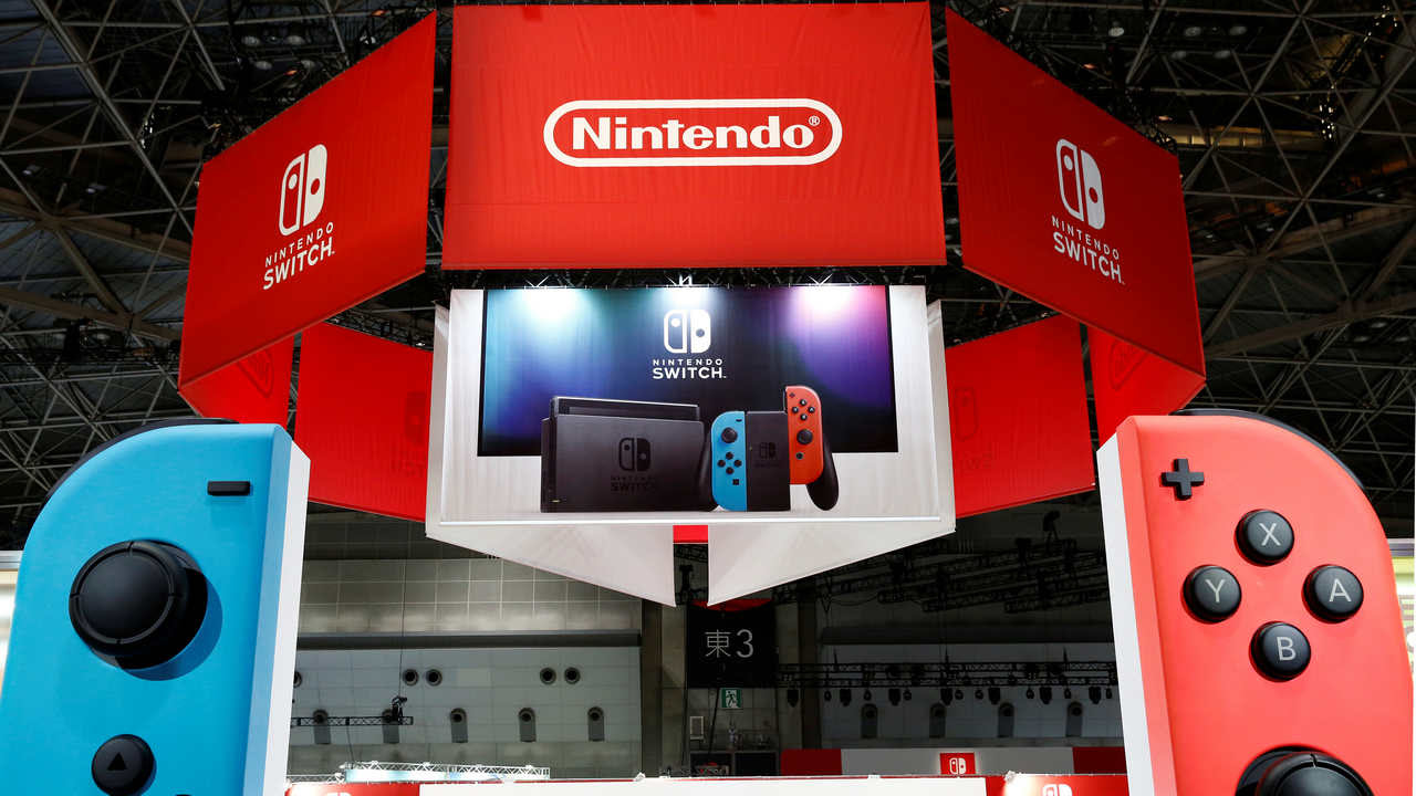 Nintendo's game console Switch pictured at its experience venue in Tokyo, Japan. Image: Reuters.