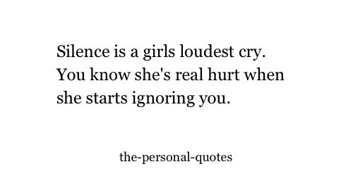 Girl Hurt Personal Silence Cry Relatable Ignoring The Personal Quotes