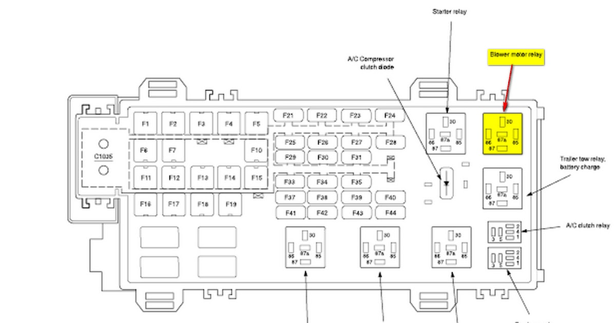 33 2007 Ford F650 Fuse Box Diagram