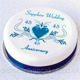 sapphire wedding anniversary cake topper  sapphire