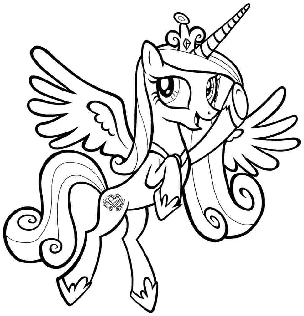 Printable Coloring Pages Little Pony - Coloring Home