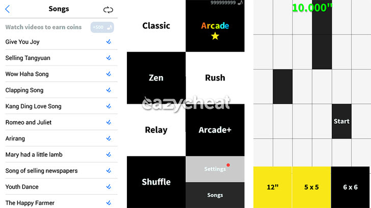 Don't Tap The White Tile Cheats