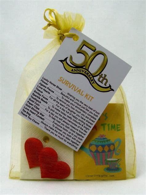 50th Golden Wedding Anniversary SURVIVAL KIT Novelty Gift