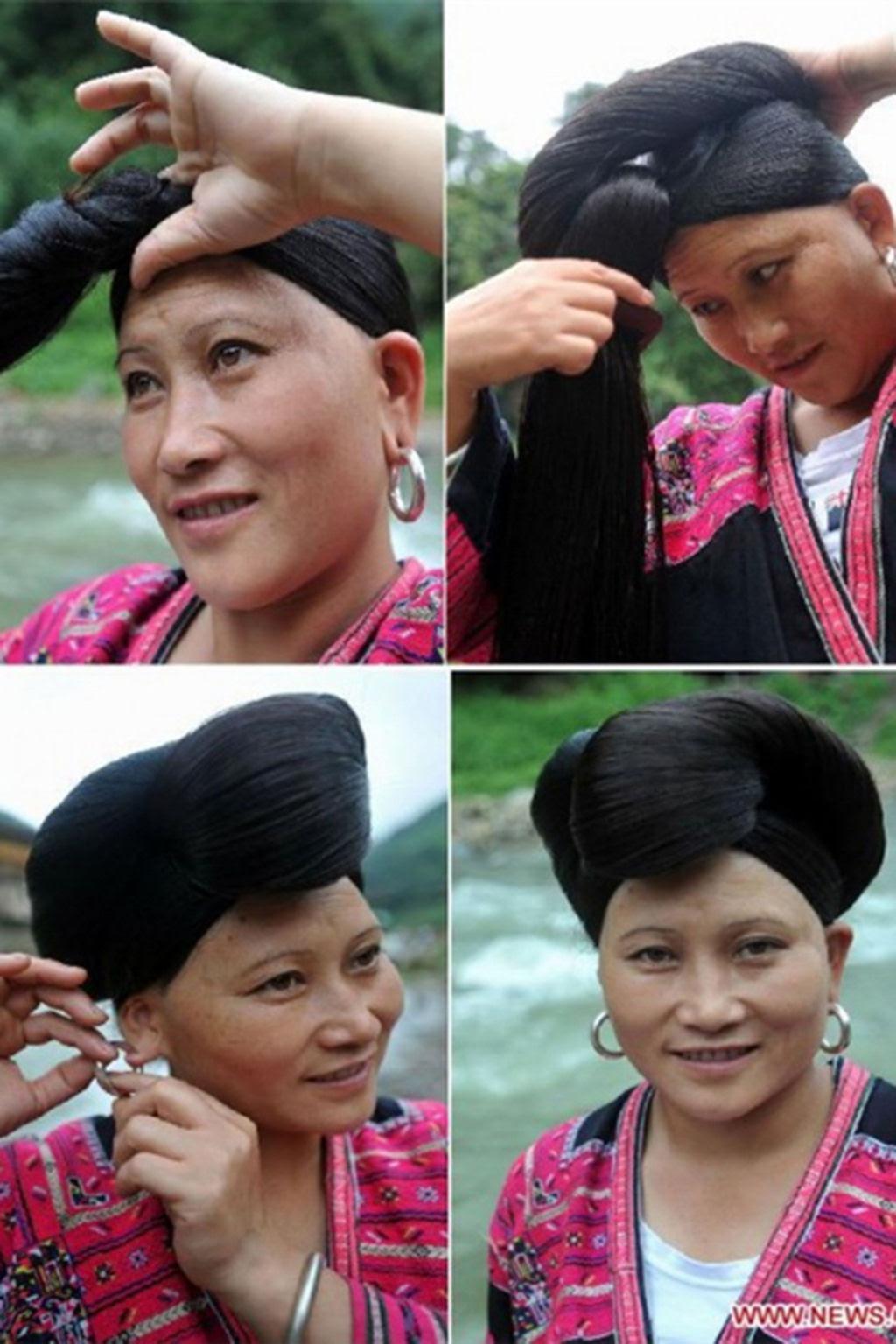 """Nesta aldeia vivem as """"Rapunzels"""" com o cabelo mais longo do mundo e guardam um curioso segredo 15"""
