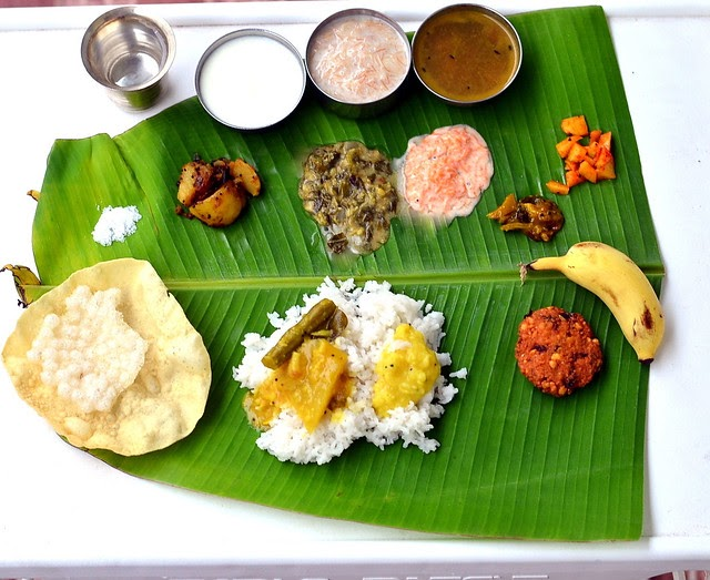 South indian full meals lunch menu for guests thalai for Abhiruchi south north indian cuisine