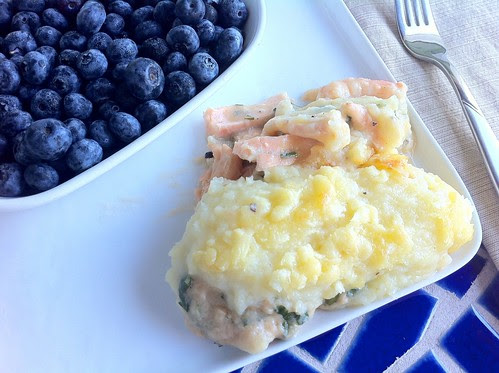 Serving of Potato and Fish Pie