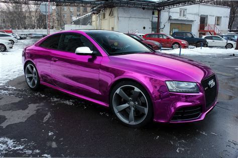 Audi rs5 Wrap Vinyl chrome purple wallpaper   1600x1069