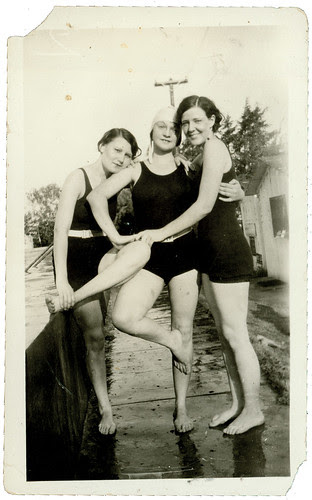 Three swimmers